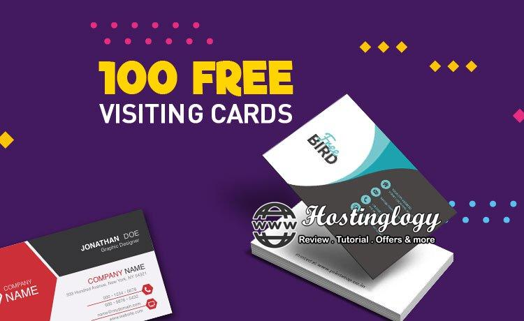 100 Visiting Cards for free !