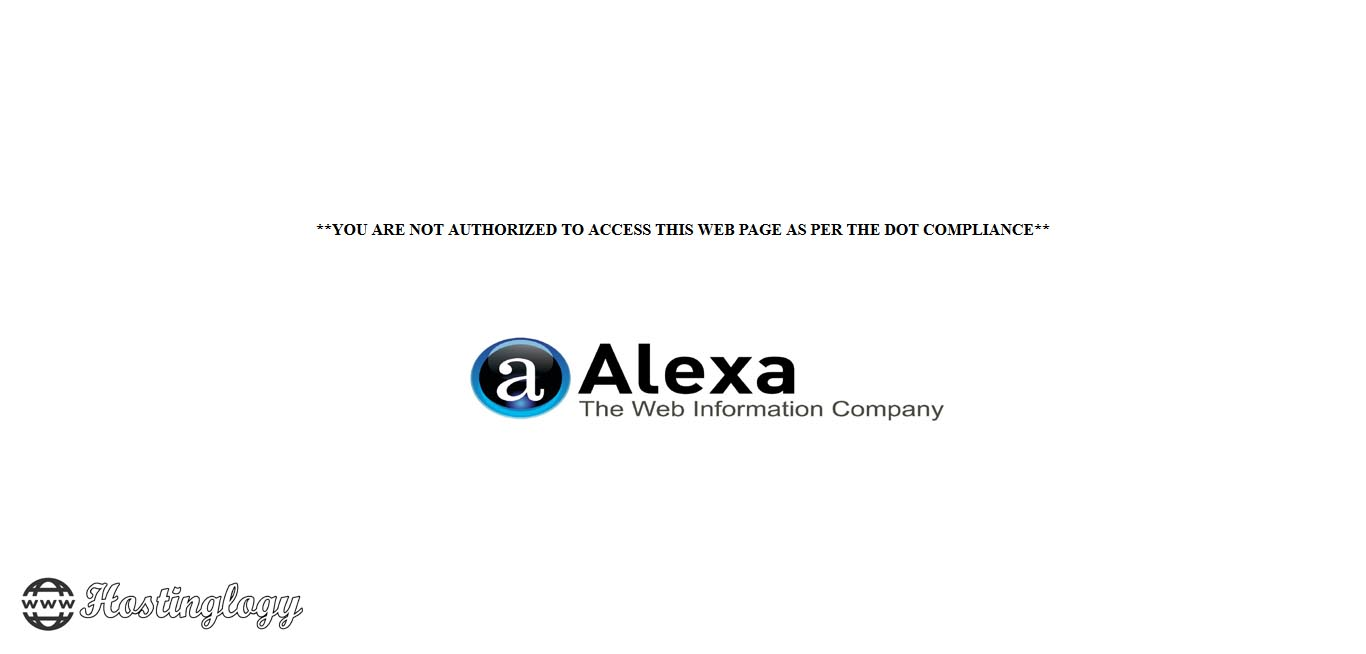 Alexa.com is Banned by Indian Government (DOT)