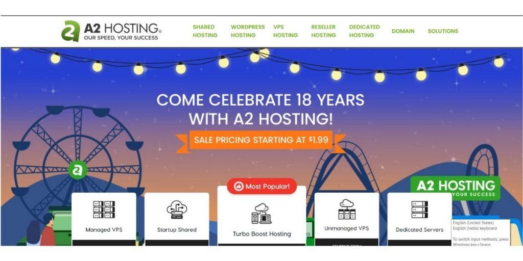 A2Hosting Web hosting UK