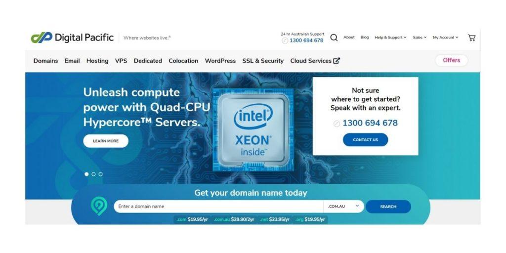 Digital Pacific Web Hosting Australia