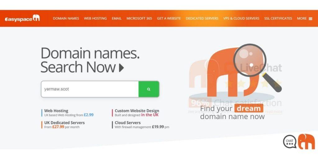 EasySpace web hosting UK