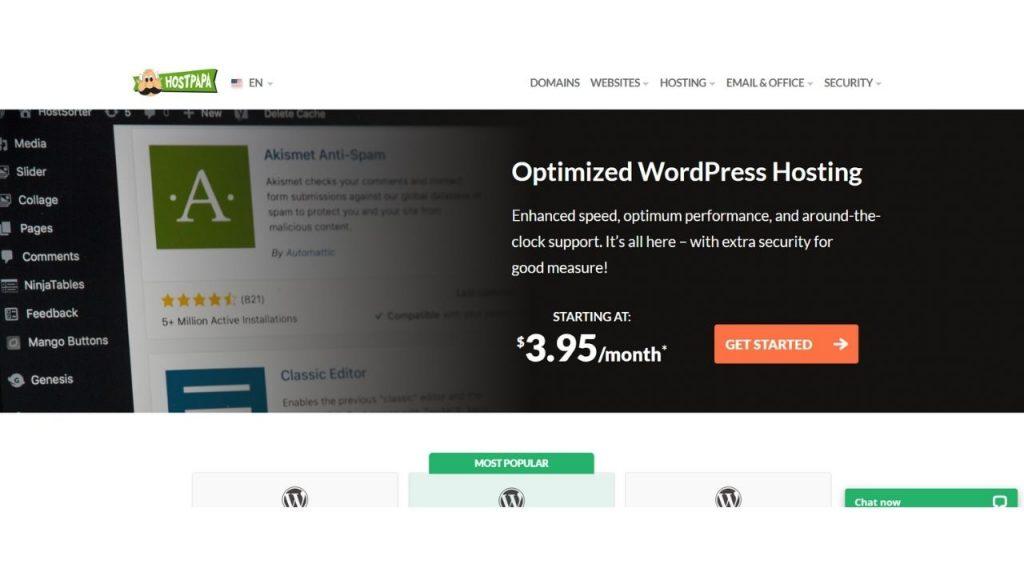HostPapa WordPress Hosting in India