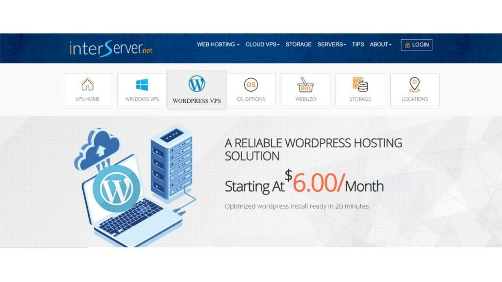 Interserver WordPress Hosting in India