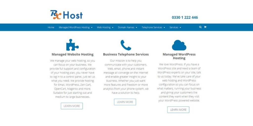 RX Host web hosting UK