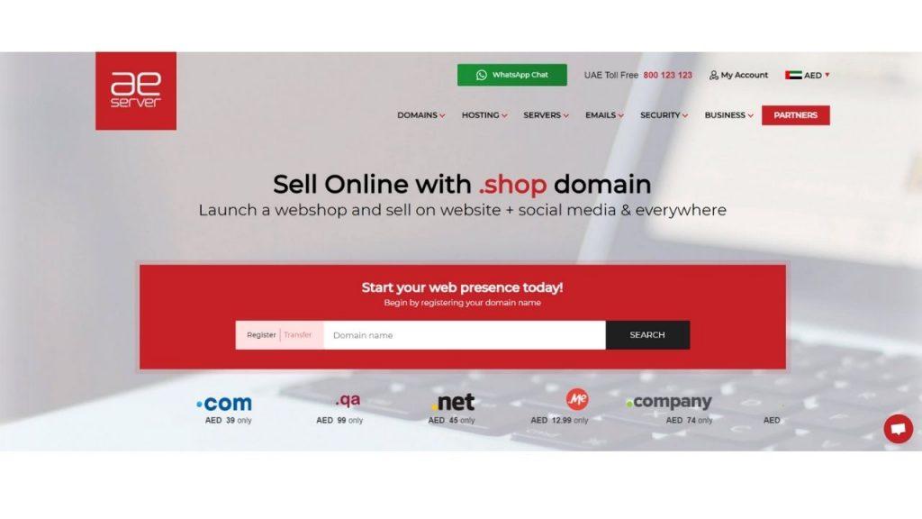AE Server web hosting in Dubai
