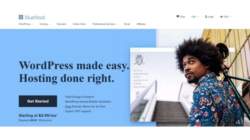 BlueHost Web hosting in Dubai
