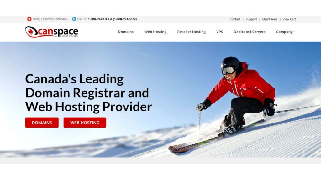 CanSpace Best web hosting Canada