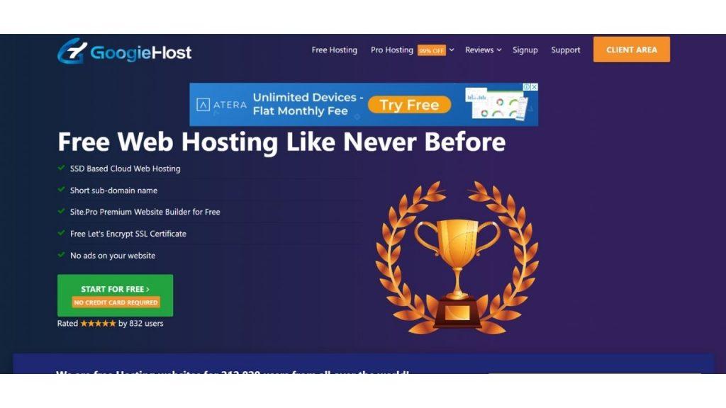 GoogieHost web hosting in UAE