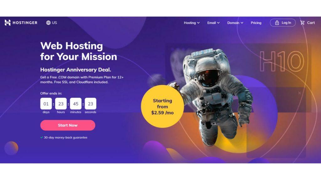 Hostinger Best Web Hosting Canada