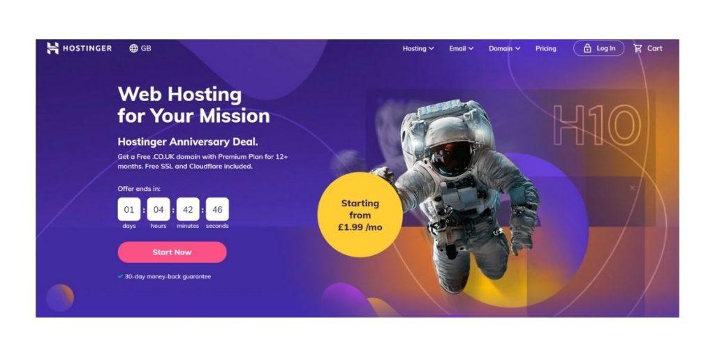 Hostinger web hosting in Dubai