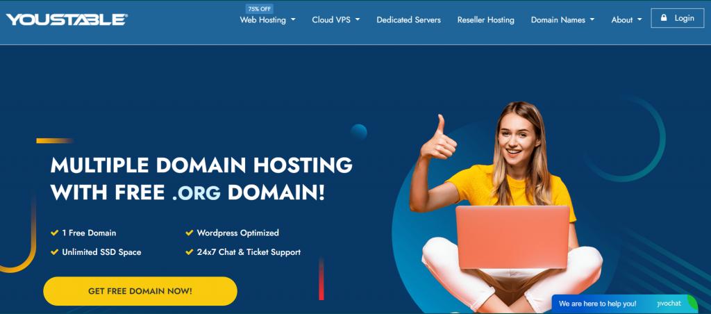 YouStable best web hosting provider in Spain