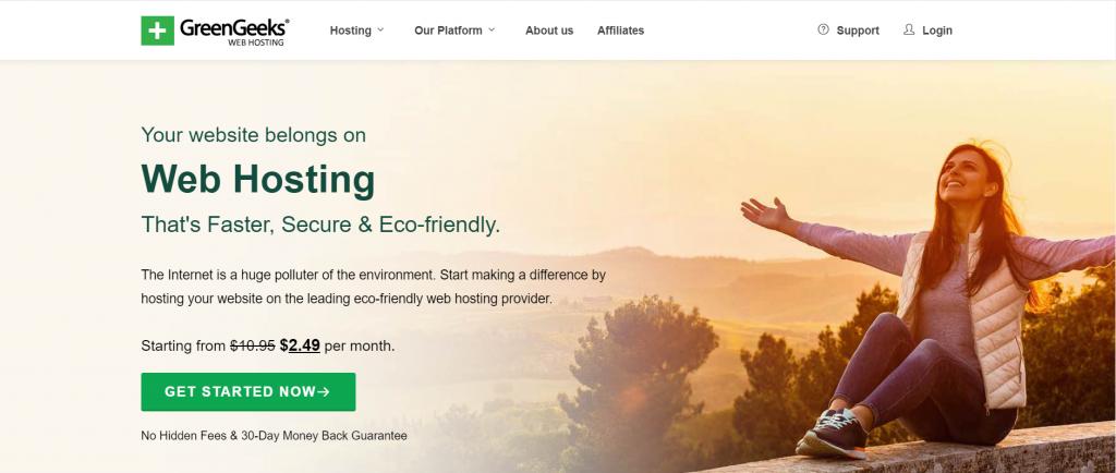 GreenGeeks Best web hosting Germany