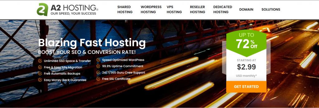 Best France web hosting A2hosting
