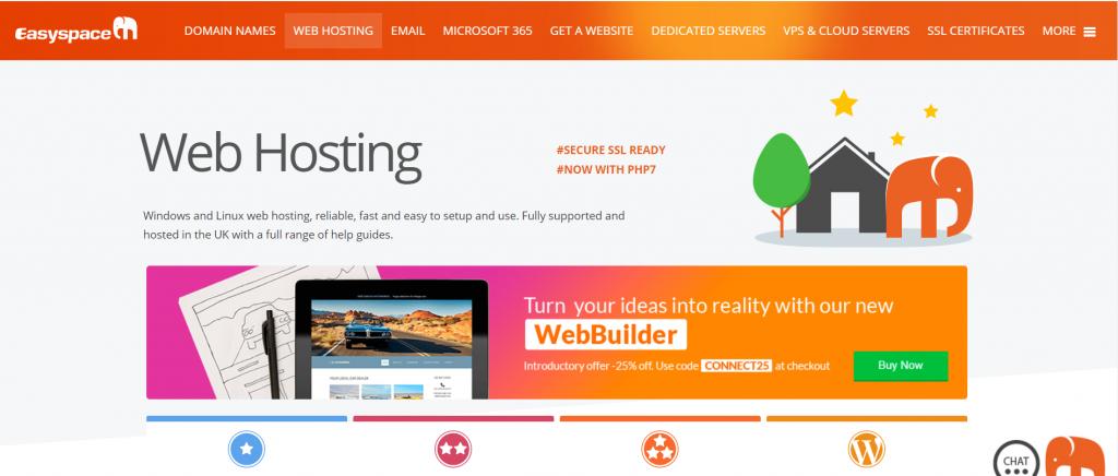 easyspace web hosting provider in Europe