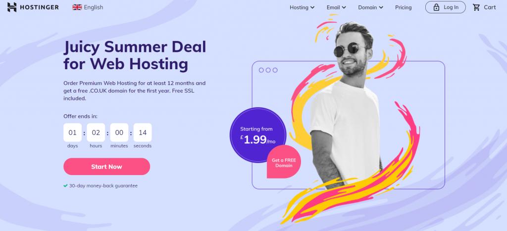 Hostinger web hosting in Europe
