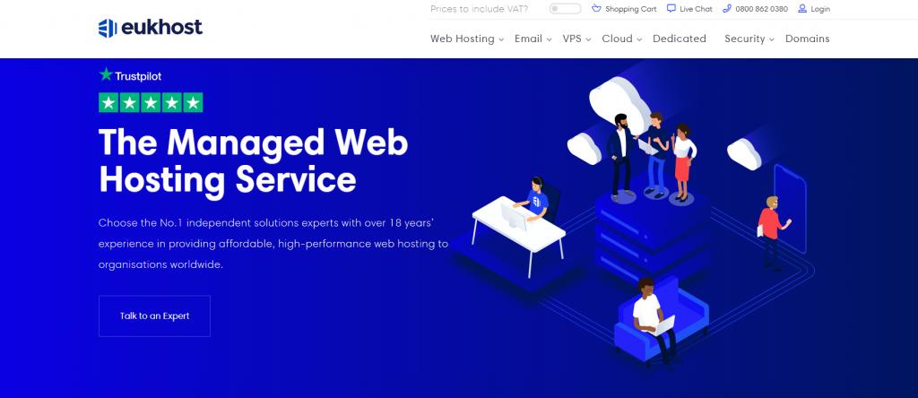 eUKHost web hosting Europe