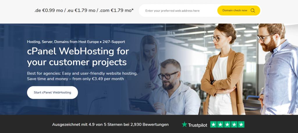HostEurope web hosting providers in Europe
