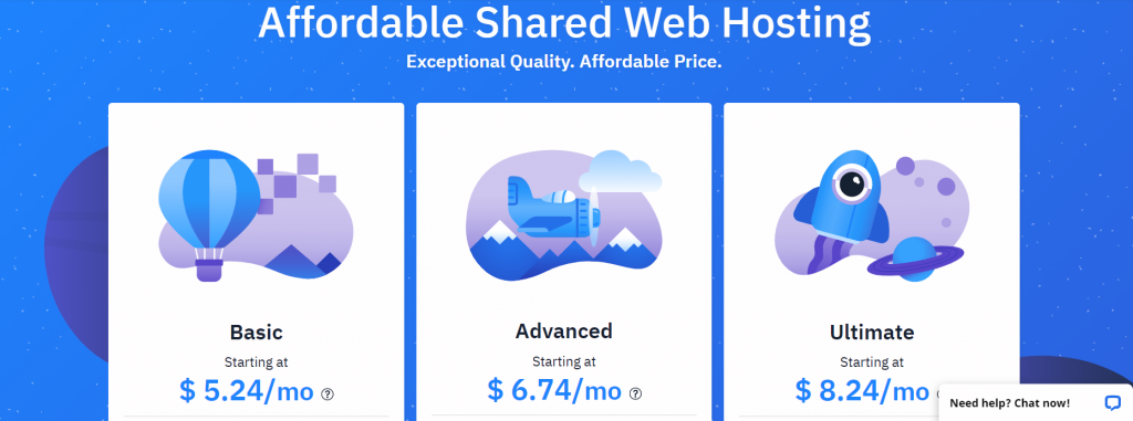 HostWind plans and pricing