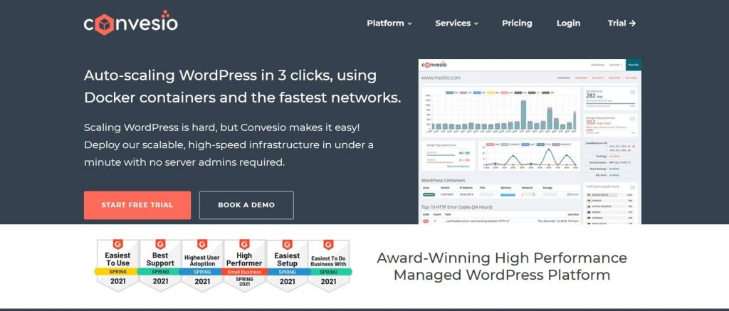 convesio web hosting company in USA