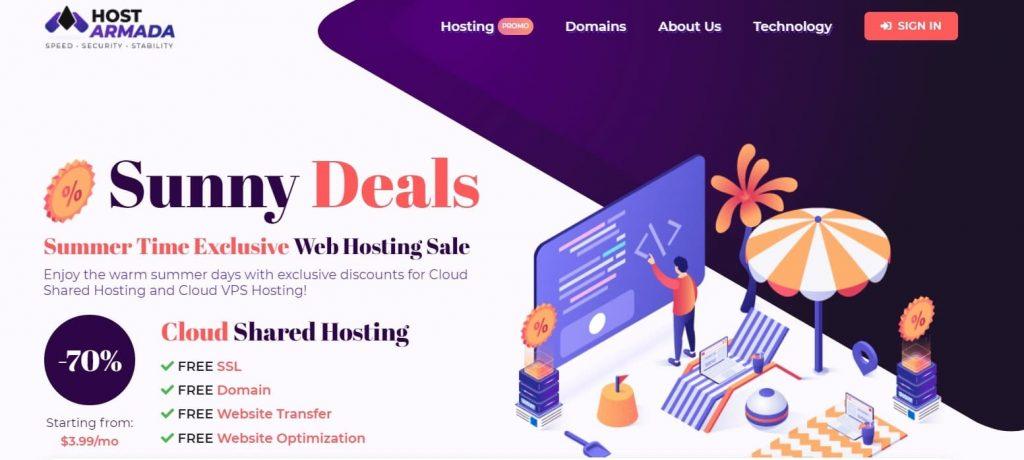 HostArmada web hosting company in USA