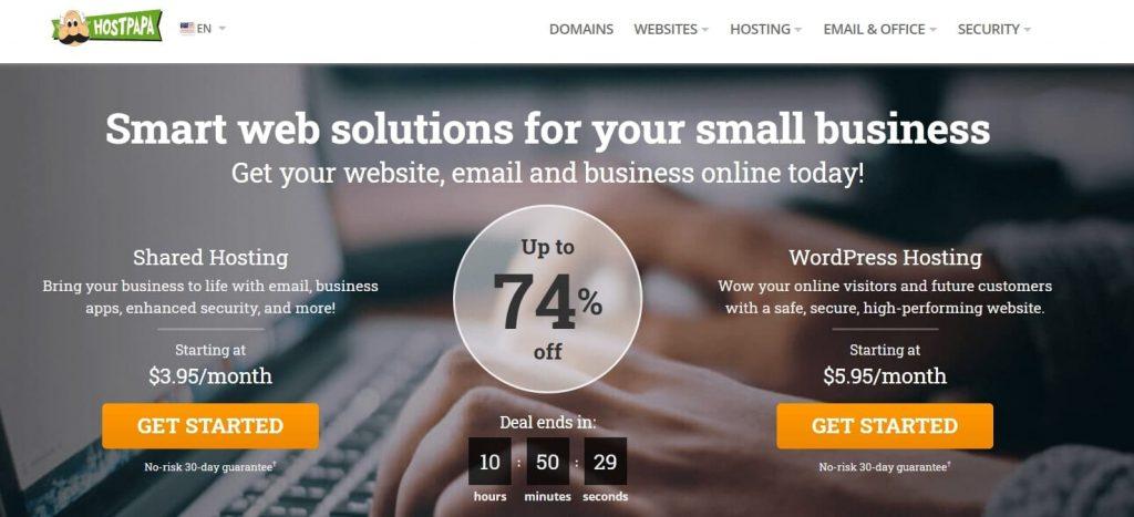 HostPapa web hosting company in USA
