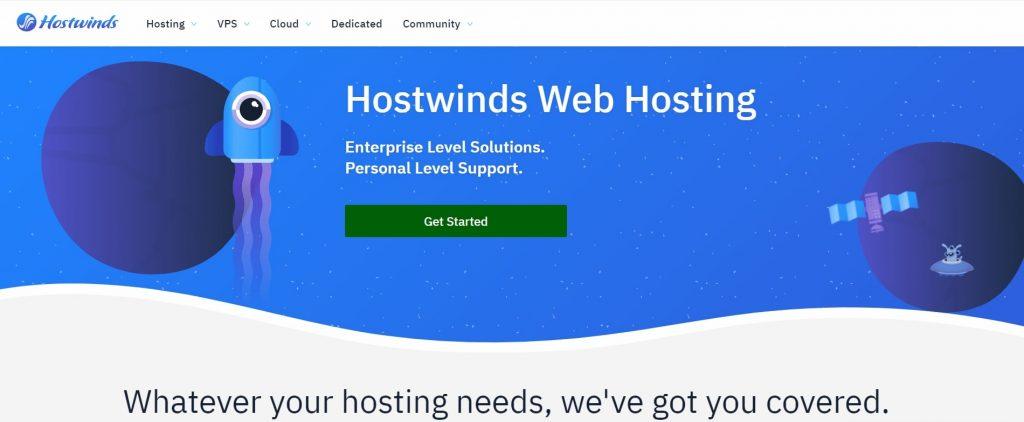 Hostwinds web hosting company in USA