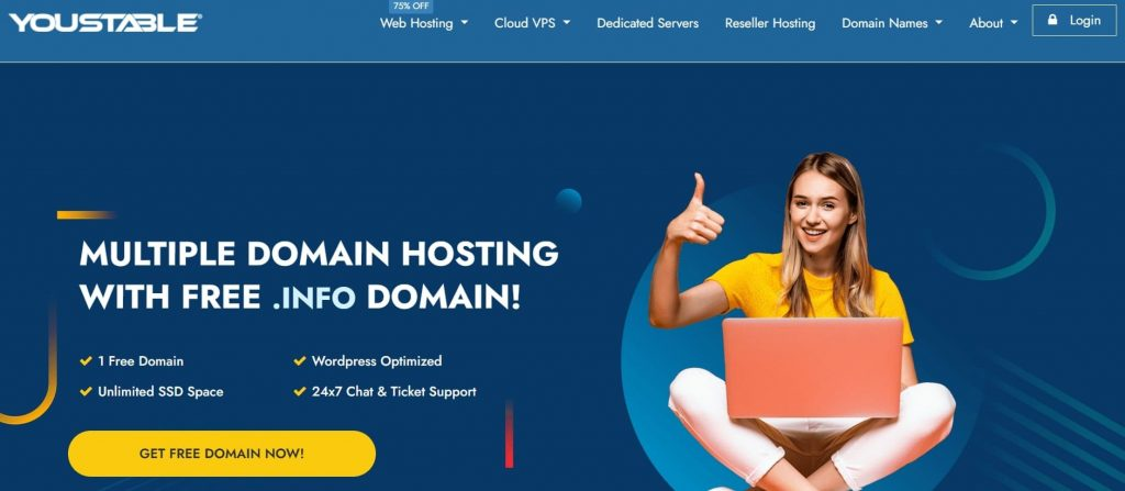 YouStable web hosting company in USA