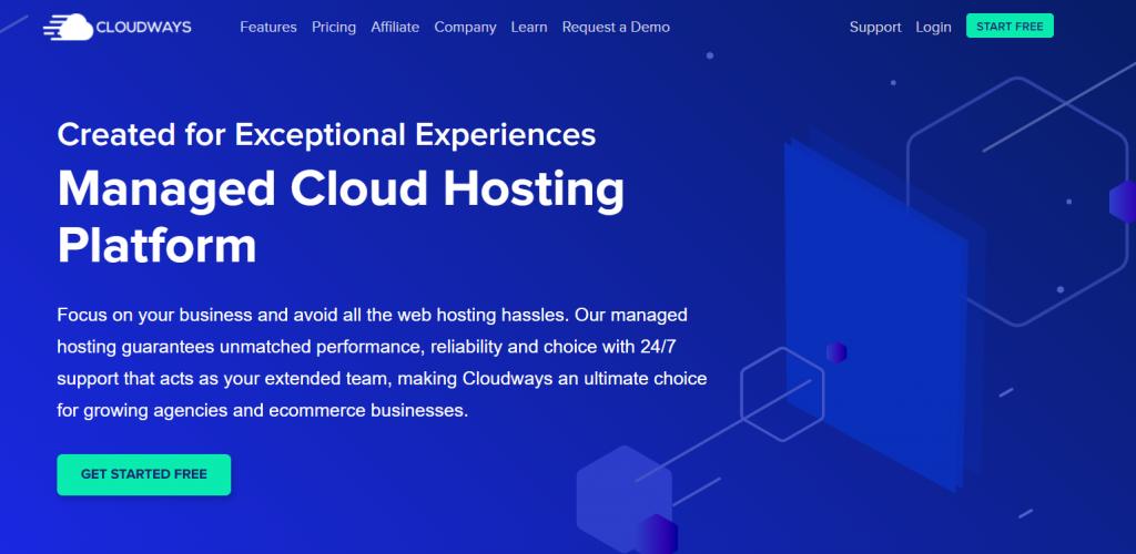CloudWays cloud web hosting provider