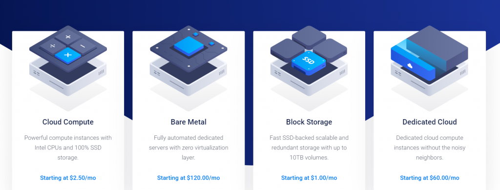 Vultr Home Page